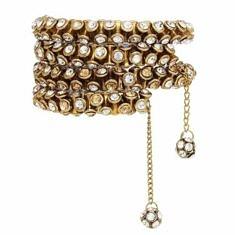 Brass & Crystal Wrap Bracelet | BuDhaGirl