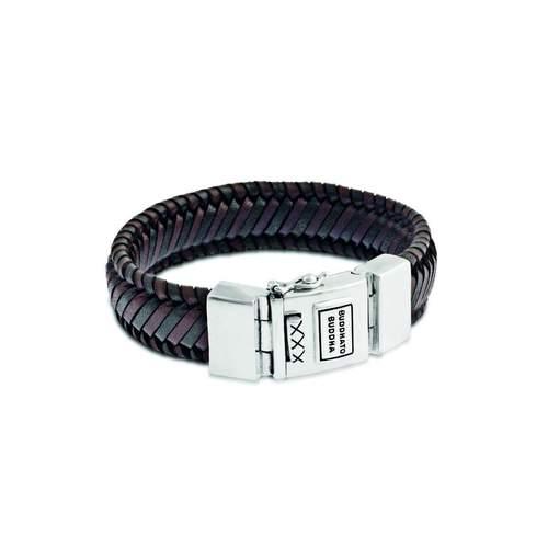 Edwin Leather Bracelet Mix Black & Brown   Budha To Budha