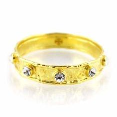 Gold Nine Crystal Bangle | BuDhaGirl
