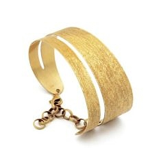 Gold Plated Speckled Hand Bracelet by Stefano Patriarchi