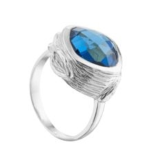 Oyster Ring in Silver with Iolite – Juvi Designs