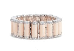 Small Tribal Rod Bracelet – Blush, Rhodium | Miriam Salat