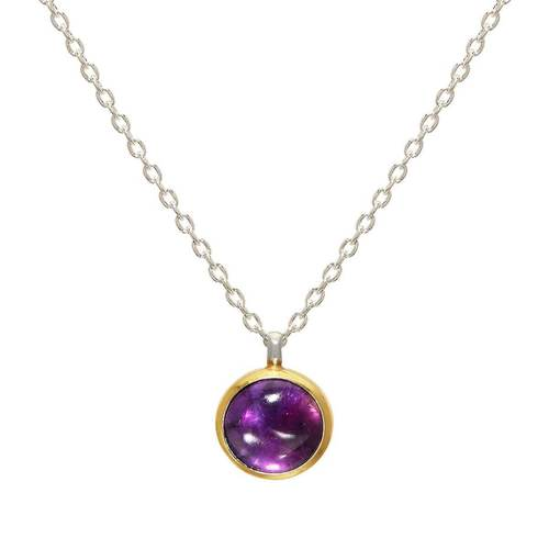 Sterling Silver Galapagos Necklace With Amethyst
