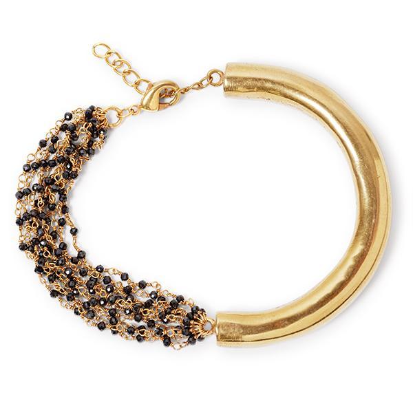 Black & Gold Chained bracelet   Black Betty Design