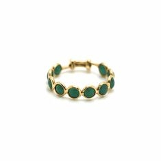 Emerald Stackable Ring Band in 18kt Yellow Gold | Tresor Collection