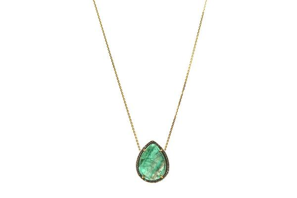 Emerald Unshape & Diamond Necklace | Tresor Collection