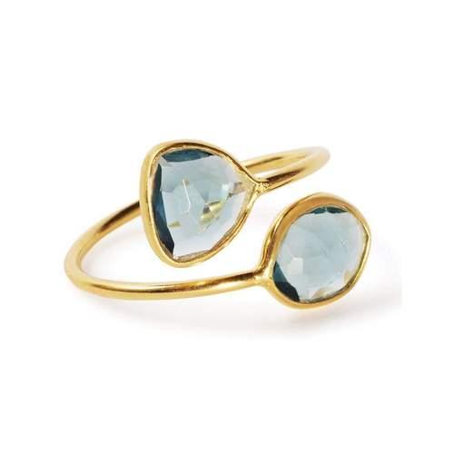 Gemini Ring With London Topaz | Black Betty Design