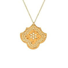 Gold Flower Pendant Necklace | Murkani
