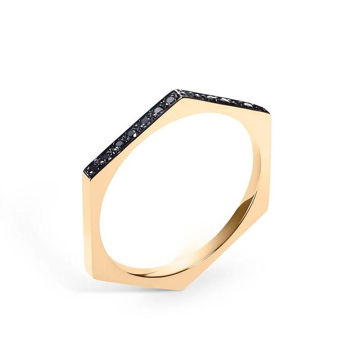 Hex Ring   Black Diamonds – Selin Kent