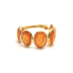 Mandarine Garnet Oval Stackable Ring Band – Tresor Collection