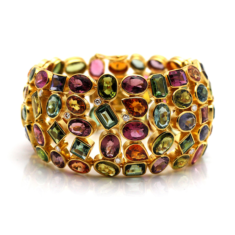 Multi-Color Tourmaline And Diamond Bracelet | Tresor Collection