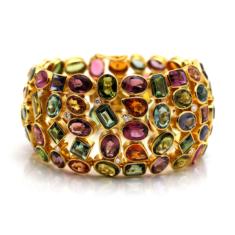 Multi-Color Tourmaline And Diamond Bracelet | Tresor Collection