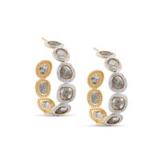 Organic Diamond Slice Earrings | Tresor Collection