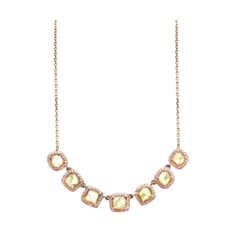Organic Yellow Diamond with Pave Diamond Necklace – Tresor Collection