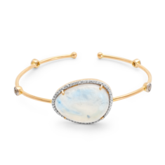 Rainbow Moonstone Bangle | Tresor Collection