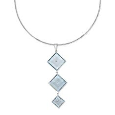 Sky Blue Topaz and Diamond Necklace | Tresor Collection