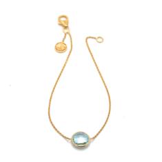 Sky Blue Topaz Single Stone Bracelet | Tresor Collection
