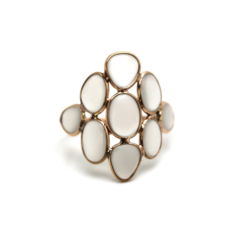 White Moonstone Ring | Tresor Collection